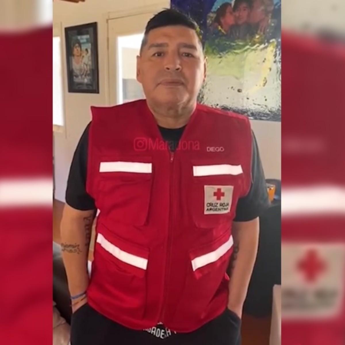 Maradona Tipping Cruz Roja