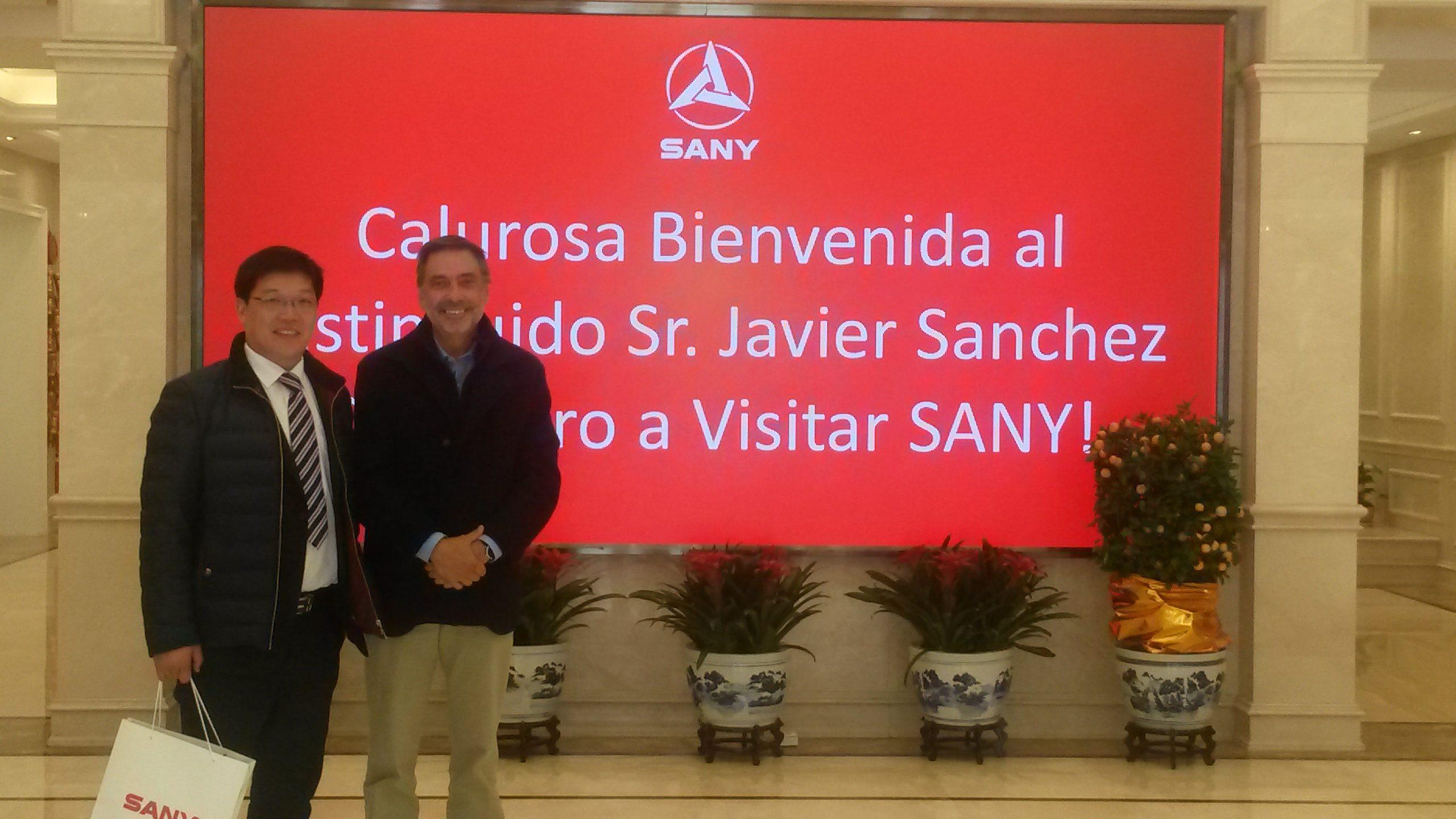 Javier Sánchez Caballero visita en SANY